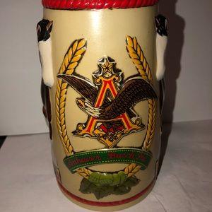 Anheuser Bush Bud Light vintage Clydesdale Stein